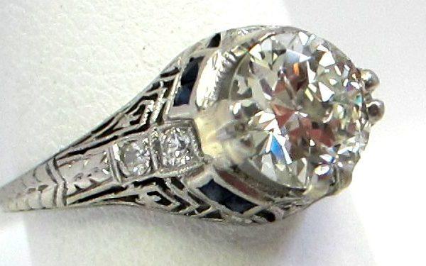 Diamond Engagement ring close up