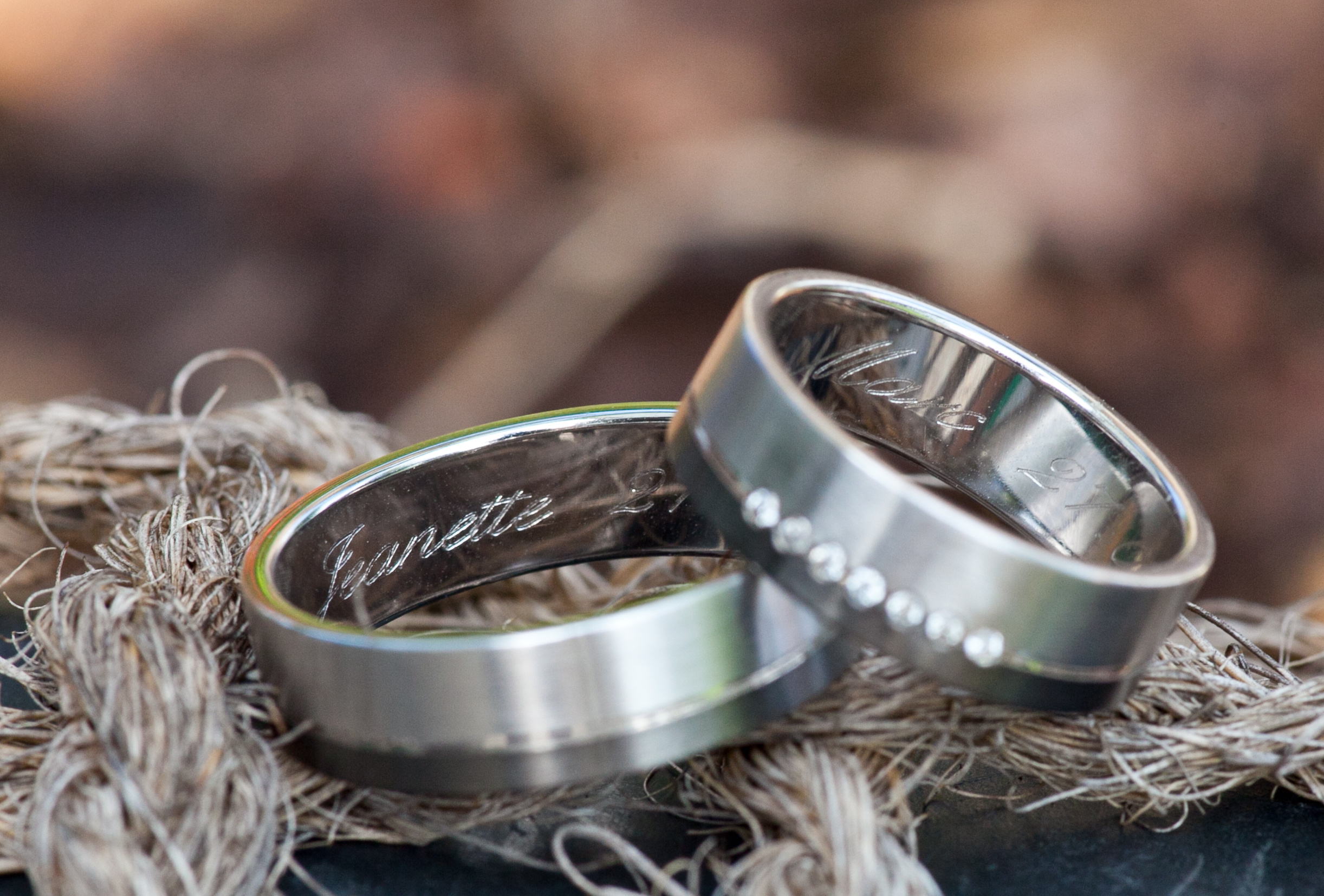 engraved rings on rope
